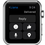 5 messenger reply options from apple watch