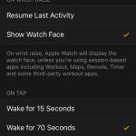 apple watch app wake screen on tap option