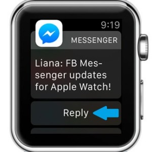 facebook messenger apple watch support