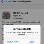 installing ios 9.1 public beta 4