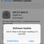 ios 9.1 beta 5 update install