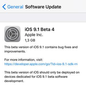 ios 9.1 public beta 4 update