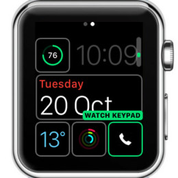 watch keypad apple watch complication