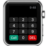 watch keypad home screen