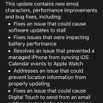 watchos 2.0.1 update log