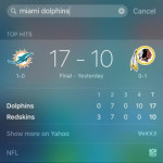 ios 9 proactive sports scores