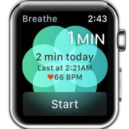 apple watch breathe app home screen
