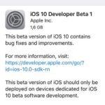 ios 10 developer beta 1