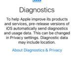 ios 10 diagnostics info screen