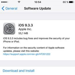 ios 9.3.3 software update screen