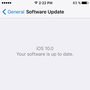iphone running ios 10