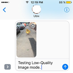testing ios 10 low quality image mode