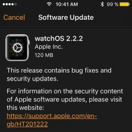 watchos 2.2.2 software update