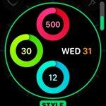 analog activity ring customization screen