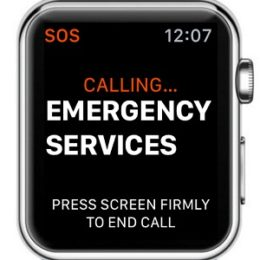 apple watch calling emergency services