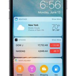 ios 10 lock screen widgets