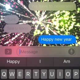 ios 10 message animation triggered by keyword
