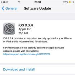 ios 9.3.4 software update screen