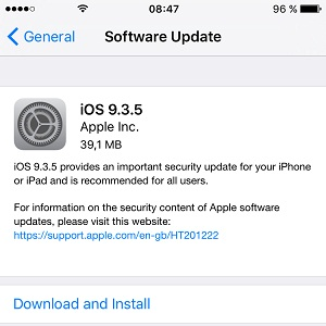 ios 935 software update