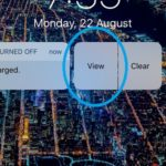 low power mode interactive notification