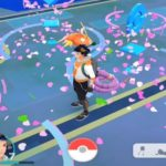 pokemon go avatar in the middle of Pokestops with lure modules