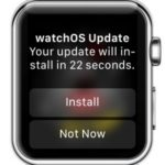 watchos update installation confirmation
