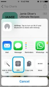 app store gift app feature