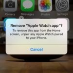 apple watch app removal warning