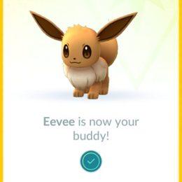 Eevee set as Pokemon Buddy.