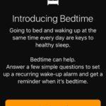 iOS 10 bedtime setup