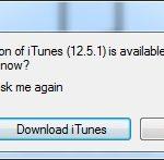 iTunes Update prompt