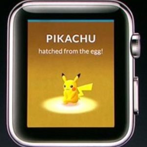 Pikachu and Pokemon GO on Apple Watch