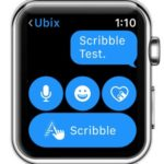 watchOS 3 Scribble button