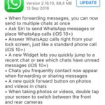 whatsapp ios 10 update log