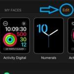 apple watch app edit watch face option