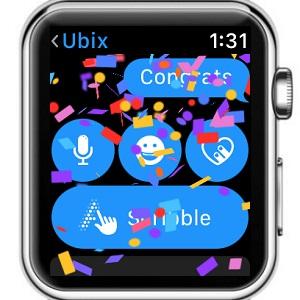apple watch imessage full-screen animation