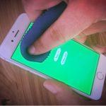 applying pressure on iphone screen