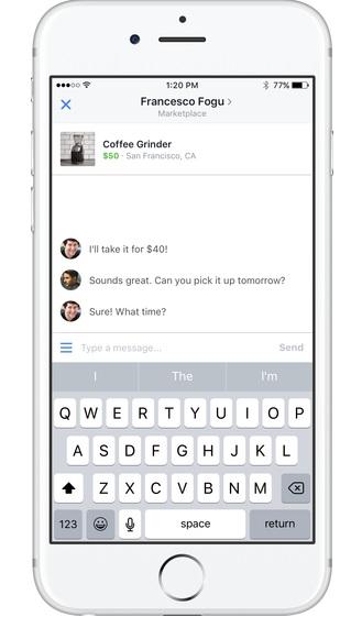 facebook market negotiation for item on sale