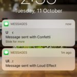 imessage with effect notification