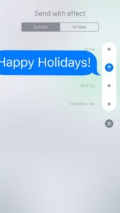 imessage with loud bubble effect