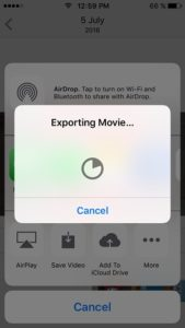 iOS 10 exporting memory video