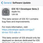 ios 10.1 beta 2 software update