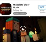 minecraft story mode app store download page