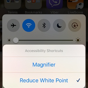Reduce White Point and Brightness combine to dim iPhone screen