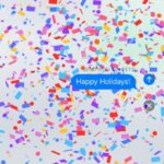 send message with confetti effect