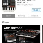 ARP ODYSSEi App Store download page