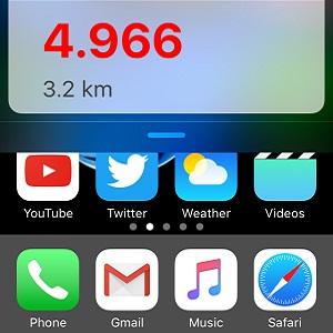 iOS 10.2 Swipe-Down for Widgets View.