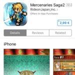 Mercenaries Saga2 App Store discount