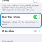 show star ratings music feature