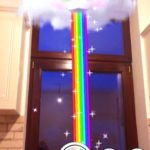Snapchat cloud vomitting rainbow ar filter